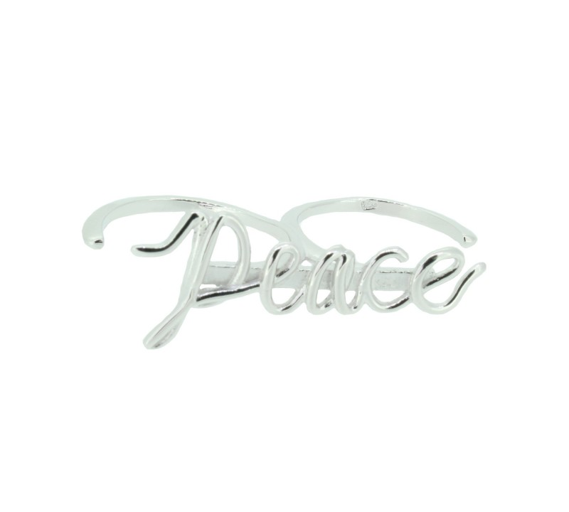 SilverArt Collection Ring Peace SR004-SR Silber rhodiniert silber