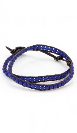 MARC SWAN Wickelarmband 100152 Leder blau