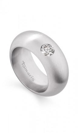 Tamaris Ring Kate 100405 Edelstahl Zirkonia silber matt