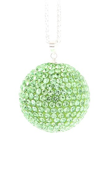 Crystal Line Anhänger TPAH110SW Kugel groß Silber grün