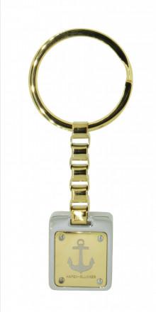 HAFEN-KLUNKER Schlüsselanhänger limited Edition Anker 108124 Edelstahl gold silber