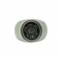 THO Herren Ring Wappen 107826 THO-R002 Edelstahl silber