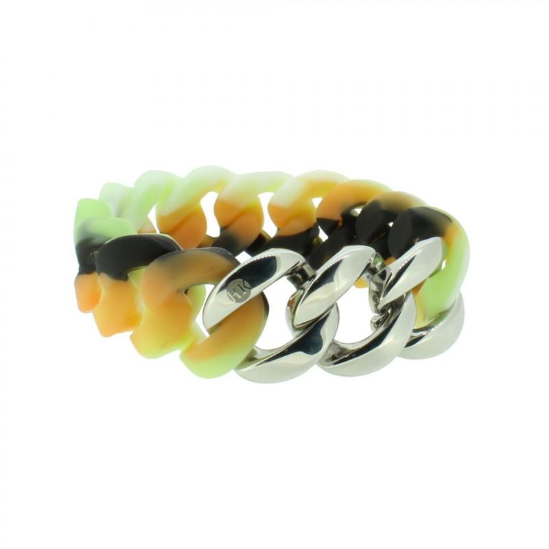 HANSE-KLUNKER ORIGINAL Damen Armband 107011 Edelstahl camouflage hell silber