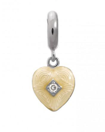 Endless JLo Charm Big Heart White Cubic 1350-2 silber