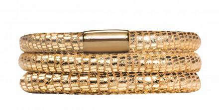 Endless JLo Armband Golden Reptil 1051--57 3 reihig Leder gold