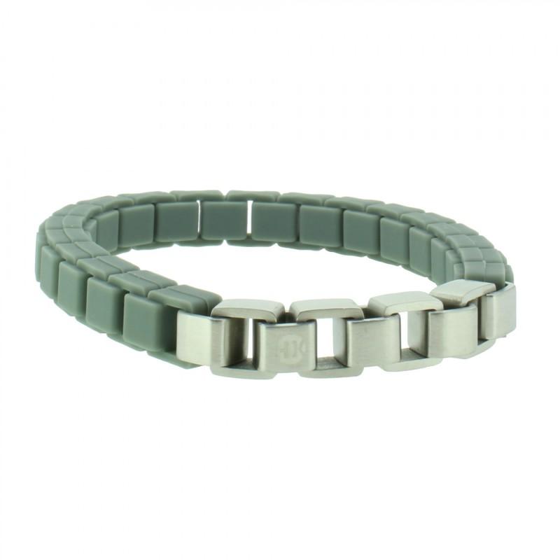 HANSE-KLUNKER FASHION Armband 108029 Edelstahl dunkelgrau silber matt