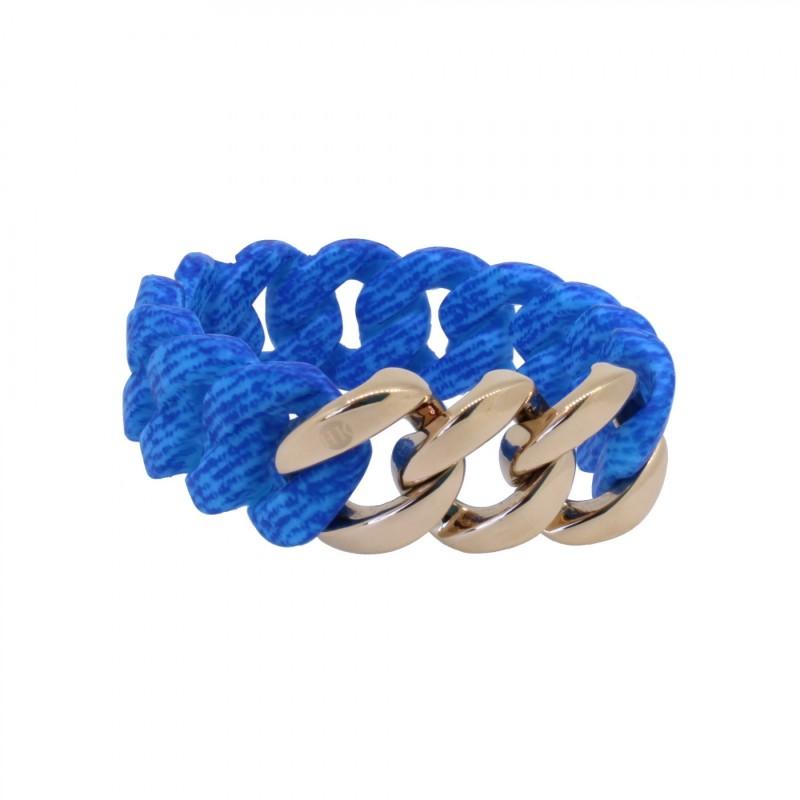 HANSE-KLUNKER ORIGINAL Damen Armband 107724 Edelstahl jeans aqua blau rosegold