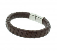 Grey Armband GAB020BR Leder braun