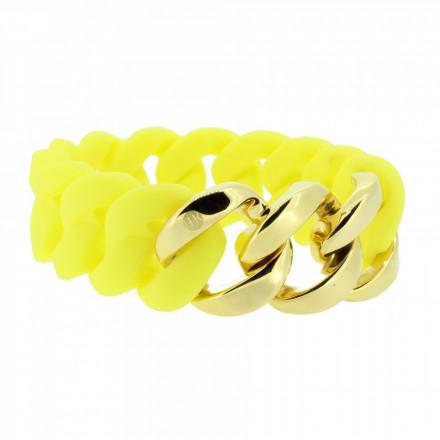 HANSE-KLUNKER ORIGINAL Damen Armband 106958 Edelstahl gelb gold