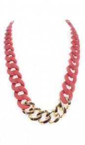 HANSE-KLUNKER Damen Kette 107077 Edelstahl rot gold
