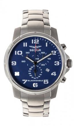 SECTOR Herrenuhr BLACKEAGLE R3273689135 silber blau