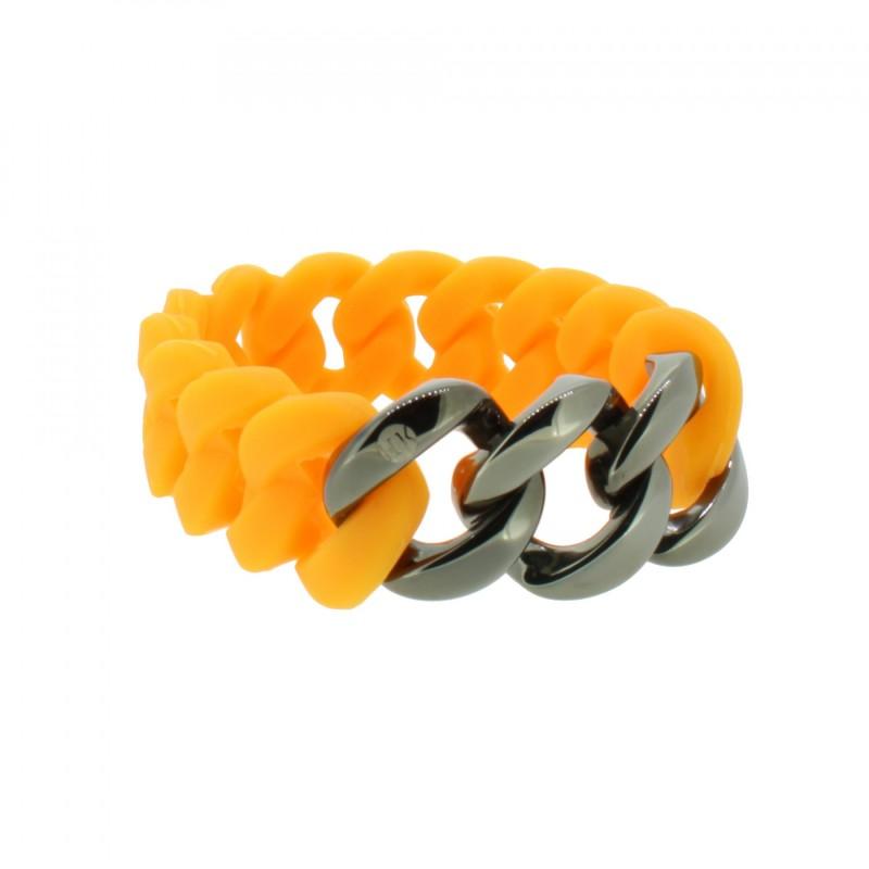 HANSE-KLUNKER ORIGINAL Damen Armband 107931 Edelstahl orange gun metal