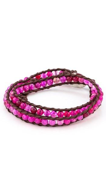 MARC SWAN Wickelarmband 100151 Leder pink