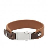 FOSSIL Armband VINTAGE CASUAL JF01946040 Leder braun