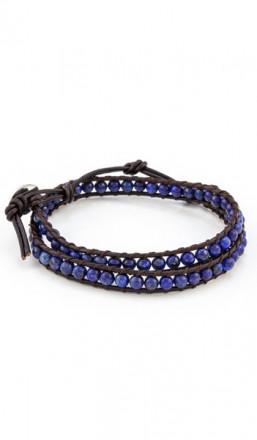 MARC SWAN Wickelarmband 100153 Leder blau