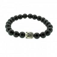 Silverart Buddha Armband 107854 FAB026 Onyx schwarz Metal nickelfrei versilbert