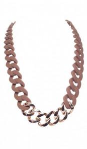 HANSE-KLUNKER Damen Kette 107087 Edelstahl braun rosegold