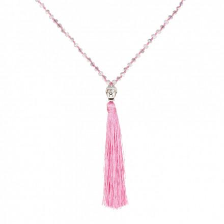 MARC SWAN Kette 77980 Buddha grau pink