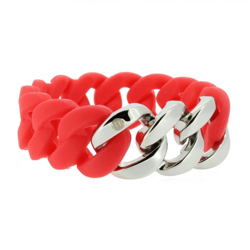 HANSE-KLUNKER ORIGINAL Damen Armband 106967 Edelstahl koralle silber