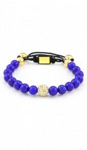 MARC SWAN Armband Shamballa Style 106474 blau gold