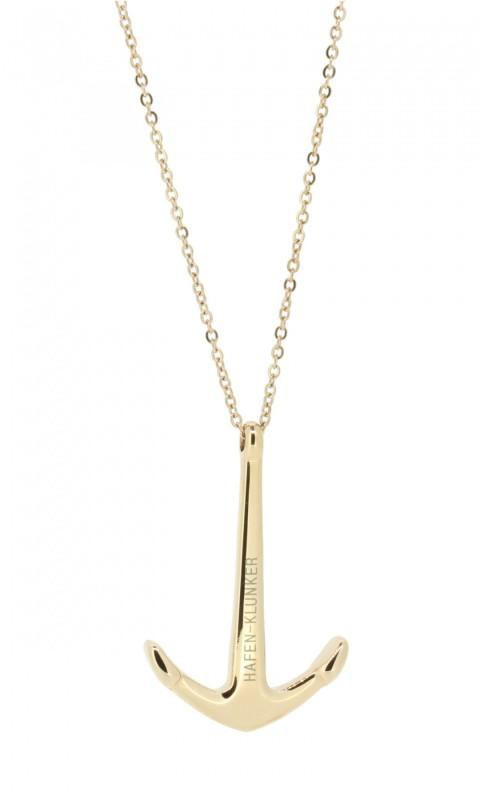 Kette Damen Mit Anker Anhänger Edelstahl Rosegold Matt Halskette (40+5 cm) Schmuck perfekt geeignet als Geschenk