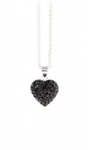 Crystal Line Anhänger TPAH117SW Herz Silber schwarz
