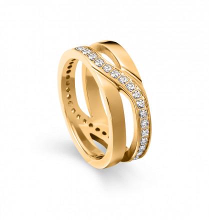 Tamaris Ring Kristina 106830 Edelstahl Zirkonia gold
