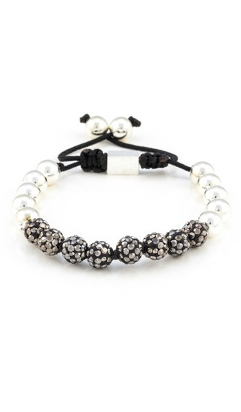 MARC SWAN Armband Shamballa Style 100104 silber grau