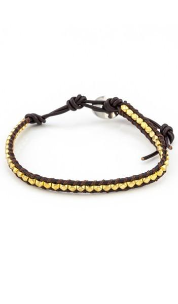 MARC SWAN Armband 100144 Leder gold