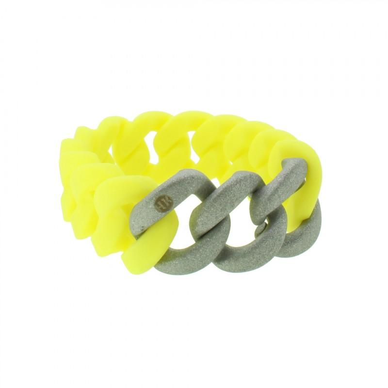 HANSE-KLUNKER ORIGINAL Damen Armband 107937 Edelstahl gelb silber sandgestrahlt
