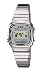 CASIO Retro Digitaluhr LA670WEA-7EF silber grau