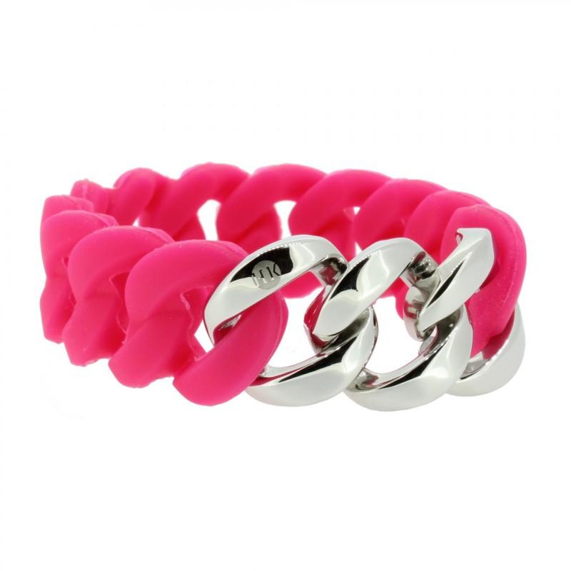 HANSE-KLUNKER ORIGINAL Damen Armband 106964 Edelstahl pink silber