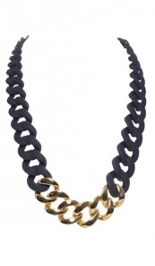 HANSE-KLUNKER Damen Kette 107071 Edelstahl schwarz gold