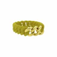 HANSE-KLUNKER MINI Damen Armband 107976 Edelstahl senf gelb gold matt