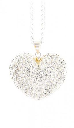 Crystal Line Anhänger TPAH112SW Herz Silber weiss