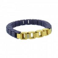 HANSE-KLUNKER FASHION Damen Armband 107999 Edelstahl nachtblau goldmatt
