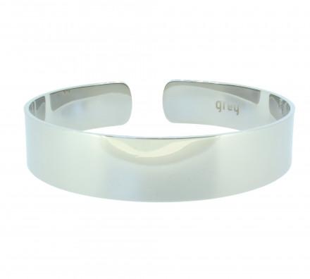 Grey Armreif GAR002-Gr.2 Edelstahl silber