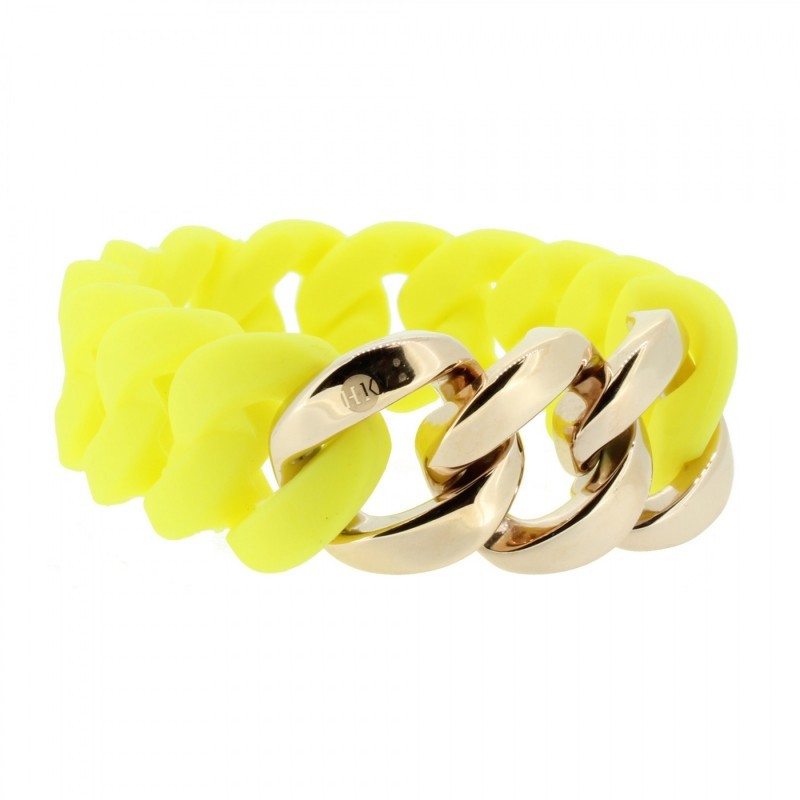 HANSE-KLUNKER ORIGINAL Damen Armband 106960 Edelstahl gelb rosegold
