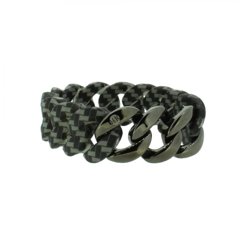 HANSE-KLUNKER ORIGINAL Damen Armband 107791 Edelstahl carbon style gun metal