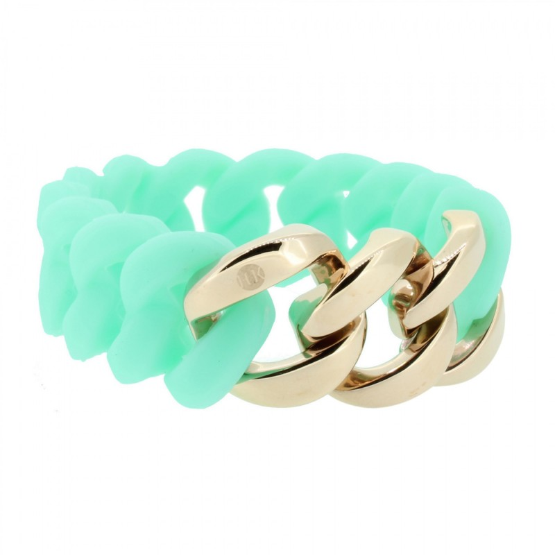 HANSE-KLUNKER ORIGINAL Damen Armband 106800 Edelstahl türkis rosegold