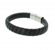 Grey Armband GAB020BK Leder schwarz