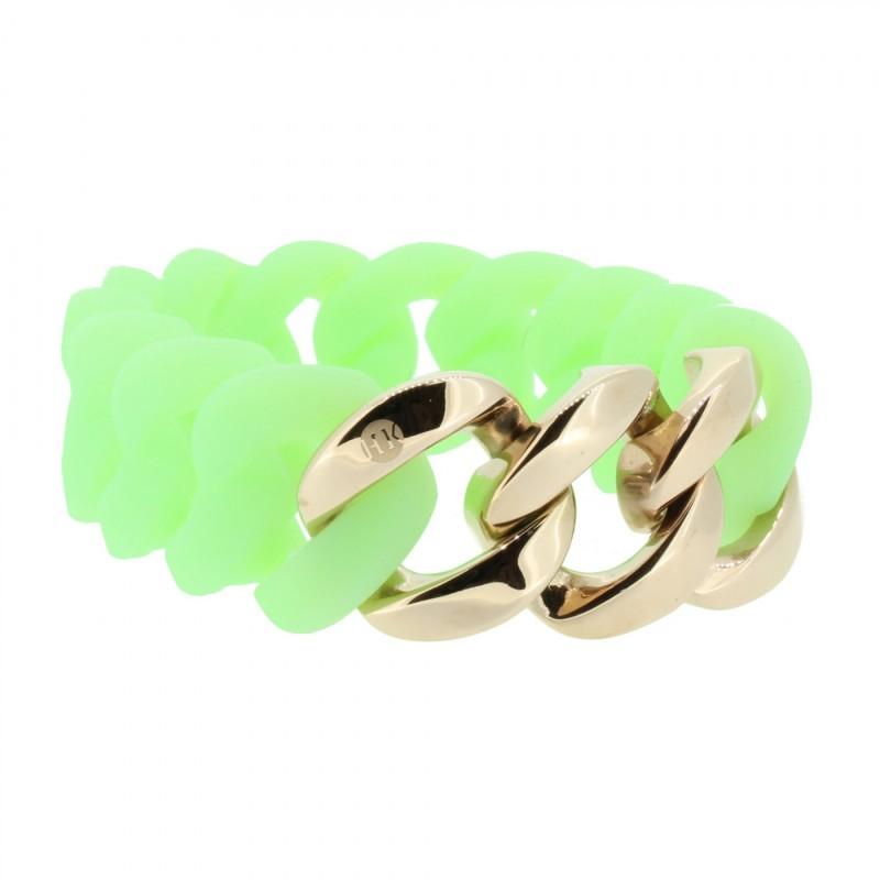 HANSE-KLUNKER ORIGINAL Damen Armband 106796 Edelstahl mintgrün rosegold