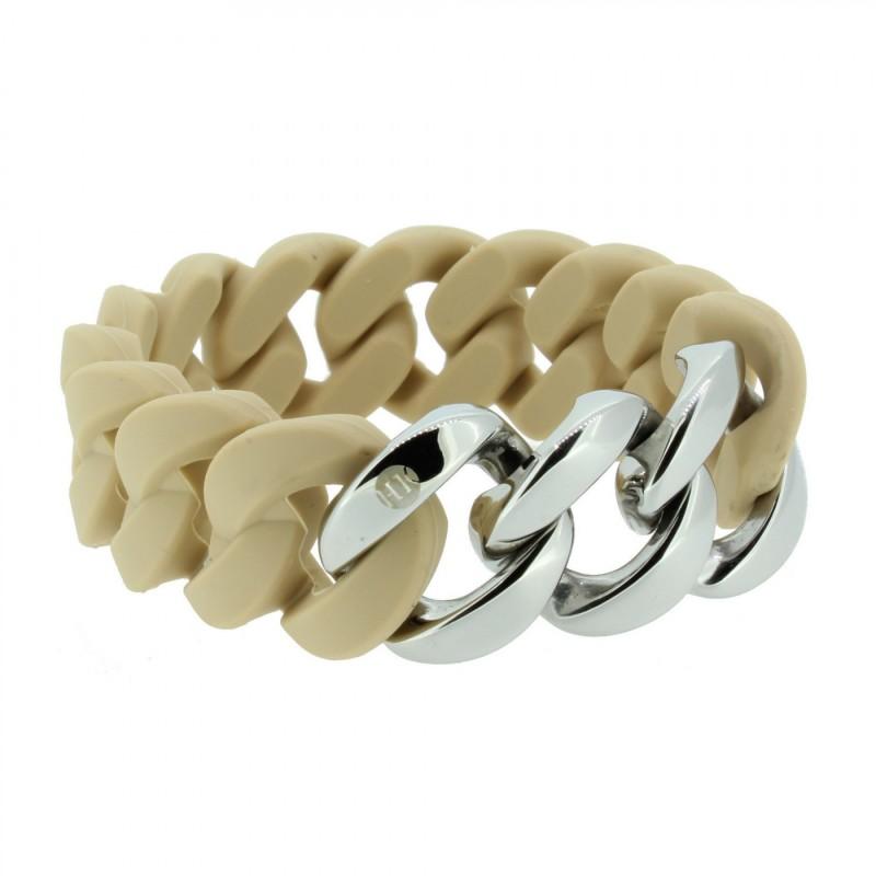 HANSE-KLUNKER ORIGINAL Damen Armband 107029 Edelstahl sand silber