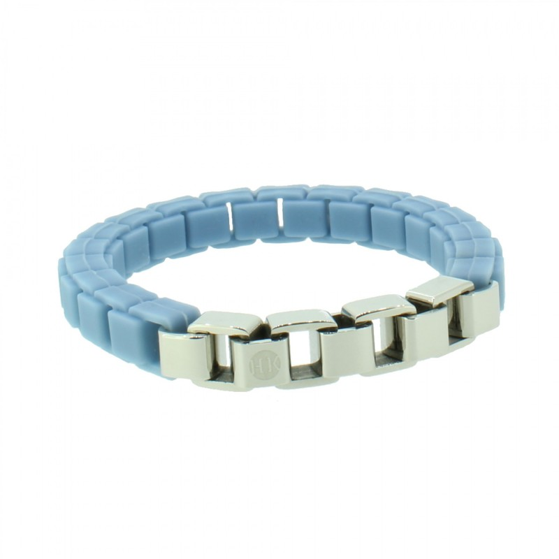 HANSE-KLUNKER FASHION Damen Armband 108008 Edelstahl pastellblau silber