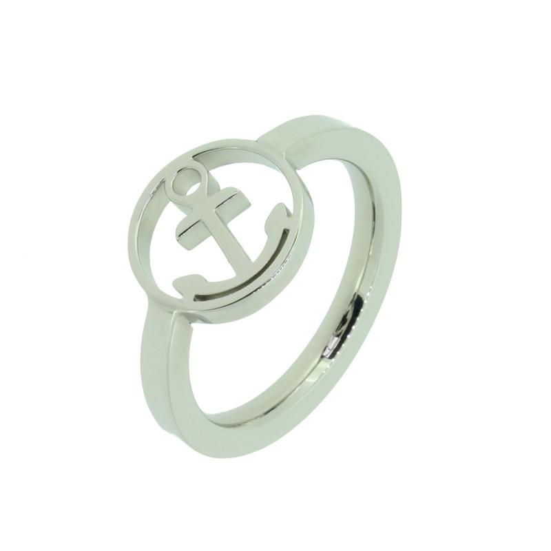 HAFEN-KLUNKER Glamour Collection Ring Anker 110523 Edelstahl Silber