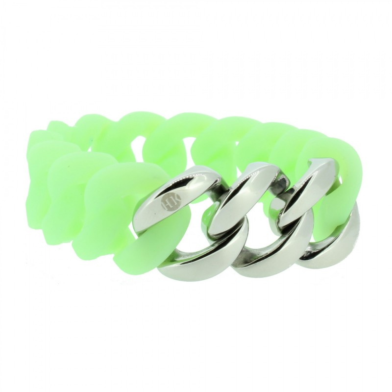HANSE-KLUNKER ORIGINAL Damen Armband 106795 Edelstahl mintgrün silber