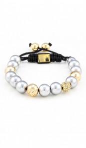 MARC SWAN Armband Shamballa Style 100128 silber gold