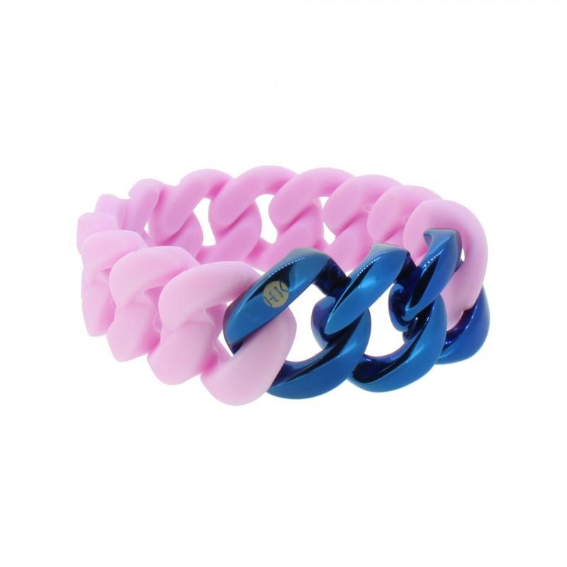 HANSE-KLUNKER ORIGINAL Damen Armband 107954 Edelstahl flieder blau