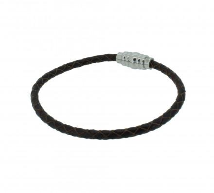 Grey Armband GAB003BR Edelstahl dunkelbraun