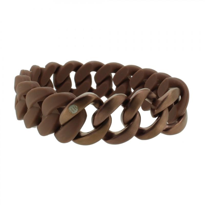 HANSE-KLUNKER ORIGINAL Herren Armband 107419 Edelstahl braun bronze matt